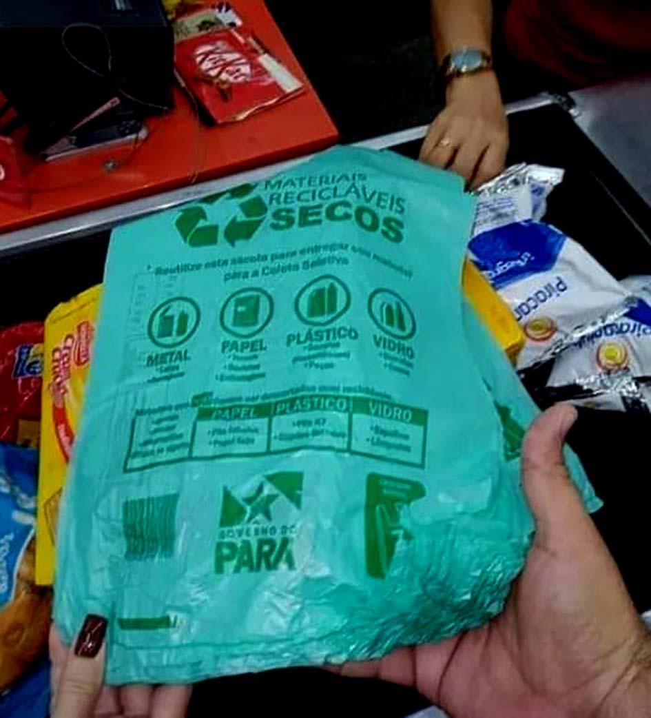 Piada ensacada em biodegradável